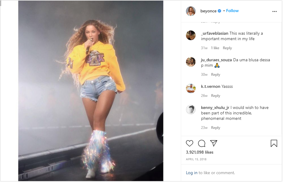 Beyonce performed at Coachella wearing customer Christian Louboutin boots.